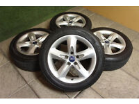 """Genuine FORD 16"""" Alloy wheels & Tyres 5x108 Focus MK2 Transit Connect Mondeo"""