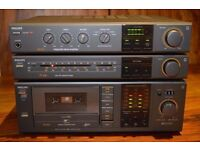 Philips FA443 Rare HiFi Amplifier with FT440 FM Tuner and FC444 Cassette Deck