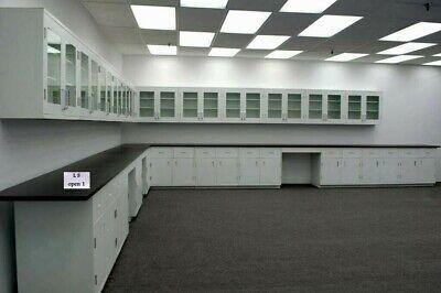 39 Base 36 Wall Cabinets Laboratory Furniture W Black Tops - R-e1-507
