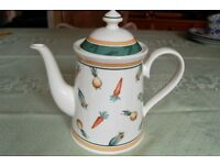 Gorgeous Villeroy & Boch 'A La Ferme' Tea/Coffee Pot in Pristine Condition, as New