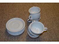 Set of 6 White Coffee/Tea Cups