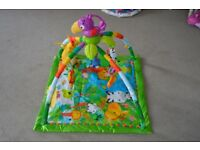 Fisher-Price Rainforest Gym, Baby Playmat with Music and Lights