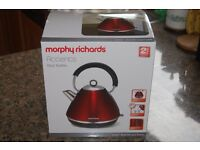 Morphy Richards Accents red kettle - new