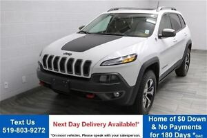 2016 Jeep Cherokee TRAILHAWK 4WD V6 w/ NAVIGATION! PANORAMIC ROO