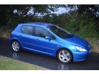 2004 54 reg Peugeot 307 2.0 HDI XSI **DIESEL 136BHP** 6 gears manual gear box