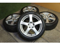 "Genuine Dezent 17"" Alloy wheels & Winter Tyres 5x108 Alloys FORD Mondeo Focus Transit connect"