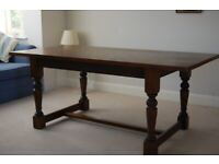 Oak dining room furniture (Old Charm) table, chairs and dresser
