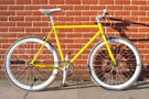 Used single speed bike. Yellow and white fixed gear