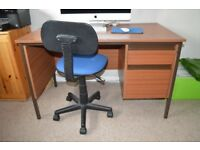 Desk and office Chair for sale. Free to collector