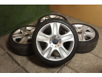 "Genuine FORD 18"" 5 Spoke Alloy wheels & Tyre 5x108 Focus MK2 Mondeo Transit Connect Alloys"