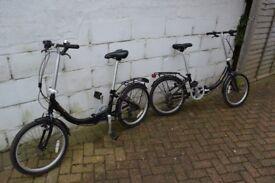 A Pair of Apollo Contour Folding Bikes