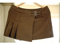 Skirt, UK size 10, faux suede (can deliver)