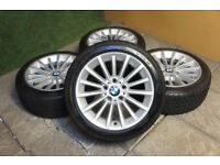"Genuine BMW 3 Series E90 17"" Alloy wheels & Winter Tyres E91 E92 E93 5x120 Snow"