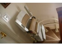 Curved stairlift 2 years old. Light use and in good condition. manufactured by Churchill
