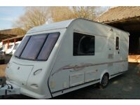 LUXURIOUS ELDDIS 482 2 BERTH 2006 REGISTERED TOURING CARAVAN WITH MOTOR MOVER SERVICED ANNUALLY
