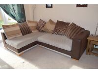 2 piece corner sofa and chair for sale