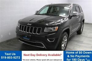 2015 Jeep Grand Cherokee LIMITED 3.6L 4WD w/ LEATHER! SUNROOF! R