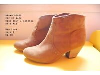 Cute brown New Look boots with small heel.