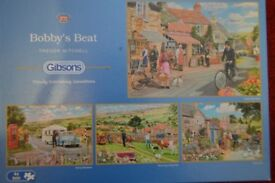 Gibsons 4 x 500 Piece Jigsaw Puzzles - BOBBY'S BEAT by Trevor Mitchell