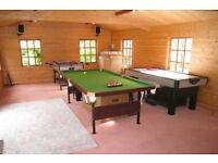 Seven feet by three feet six inches good quality snooker table.