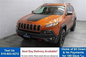 2016 Jeep Cherokee TRAILHAWK 4WD V6 w/ NAVIGATION! REVERSE CAMER