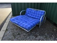 Metal futon sofa bed
