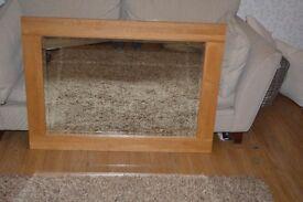 Wooden Framed Mirror 110cm x 81cm