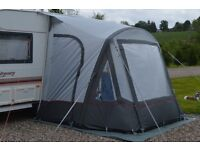 caravan air porch awning, two tone grey, 2.5 x 2.5m size