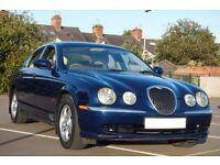 Jaguar S-Type 2.5 auto blue, cream leather 12MTHS MOT