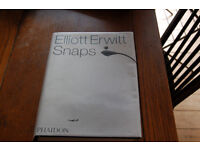 Photography book, Elliot Erwitt photo snaps hardback book with dustcover