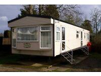 Haggerston Castle Luxury Caravan for hire. GCH Double ensuite. Bathroom with large bath.