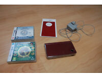 Nintendo DSi XL with 2 games ( Brain Training and Professor Layton ),instructions and charger