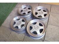 "Genuine Staggered Keskin KT1 16"" Alloy wheels 5x100 & 5x112 VW Golf Polo Audi A3 Seat Ibiza Skoda"