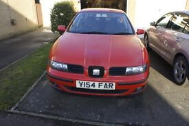 2001 Red Seat Toledo 1.8 20 valve MOT Until March 2017 New Brake pads and discs all round July 2016
