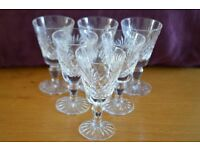 Royal Doulton Fine Crystal Sherry Glasses (Set of 6) - Juno Pattern