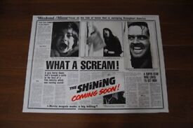 the shining ' ( stanley kubrick ) ' original cinema poster