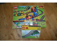 Duplo Lego Deluxe Electric Train Set (Boxed) and Bridge (separate)