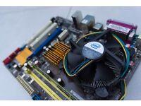 ASUS Motherboard, INTEL Processor & RAM Bundle (includes cooler and backplate)