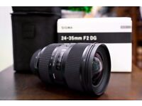 SIGMA 24-35mm ART LENS (CANON FIT) - LIKE NEW