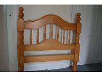 Single wooden pine bed frame