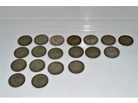 Coins. 19 Half-Crowns.Various dates. George Vth and VIth. All very good condition. See images.