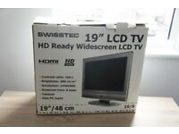Swisstec 19 inch LCD TV - 100% complete in box - Near New