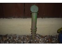 Screw in Ground Spike Base for Rotary Clothes Washing Line Parasol Holder