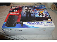 Sony Playstation 4, 1tb with three great games, sealed and new, with TV - swap for 4k TV