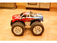 Large Monster truck with remove controller and charger