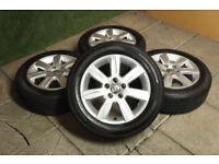 "Details about 4x Genuine VW Polo 15"" Riverside Alloy wheels 5x100 Fabia Ibiza Alloys 9N 6R"