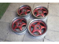 "Genuine Centra 15"" Alloy wheels 4x100 Golf Polo Clio Corsa Civic Deep Dish Alloys"