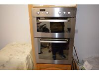 Whirlpool built in double oven - very good condition