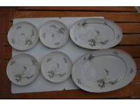 Gorgeous Bone China Serving & Side Plates by Thomas of Germany Pattern 7515/27 in Lovely Condition.