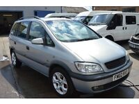 2002 Vauxhall Zafira 7 seat in excellent condition with MOT UNTIL OCTOBER 2017